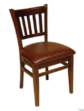 Hants Wooden Dining Chair with Upholstered Seat
